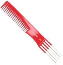 Pro Tip 09 Prong Comb Hairdressing Styling Teasing Superb Quality Red