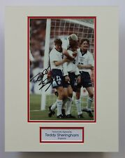 TEDDY SHERINGHAM England SIGNED Photo Mount COA Millwall Tottenham Man Utd