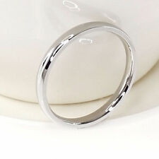 Size 5-13 Band Ring Polished Wedding Women Stainless Steel Engagement Party 4mm