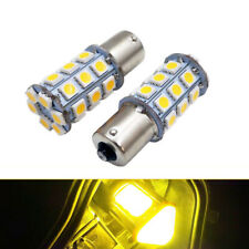 2X Car 1156 BA15S Yellow Camper Trailer 5050 27-SMD LED Interior Light Bulb