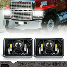 2Pcs Sealed 4X6 LED Headlights DOT Approved with High Low Beam H4651 H4666 H4656