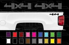 2X 2014-2018 Chevy 4x4 Decals Silverado GMC Sierra Truck Bed Side Vinyl Stickers