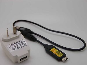 USB AC Battery Power Charger Adapter Cord For Samsung PL150 PL151 ST600 Camera