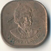 COIN / SWAZILAND 1974 2 CENTS      #WT8687