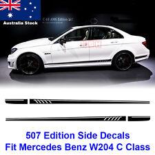 AMG 507 Stripe Decal Sticker Mercedes Benz W204 C63 C180 C200 C250 Matte Black