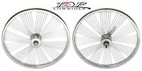 "20"" x 1.75"" Fan Steel Bike Wheel 72 Spoke 14gUCP 3/8 Axel Chrome Bicycle Wheel"