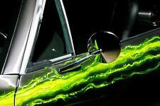 GM CHEVY CHROME ROUND METAL DOOR MIRRORS CAMARO FIREBIRD CHEVELLE PAIR NEW
