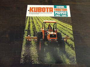KUBOTA M6950 2WD / 4WD DIESEL TRACTOR BROCHURE M6950DT
