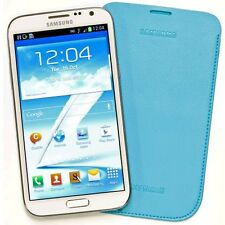 Genuine Samsung EFC-1J9LLEG Light Blue Pouch Cover Case Galaxy Note II N7100