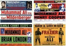 Cassius Clay Muhammad Ali program postcard set # 2