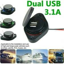 Car Auto Adapter Lighter Socket Dual USB Port Charger Power Outlet LED Display