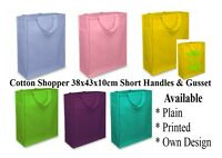 Cotton Shopping Bag, Short Handles & Gusset, Cotton Tote Bag REDUCED TO CLEAR