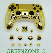 Chrome Gold Full Custom Replacement PS4 Controller Hydro Dipped Shell Mod Kit