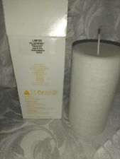 Partylite White Iced Snowberries GloLite Pillar Candles 3x6 New in Box