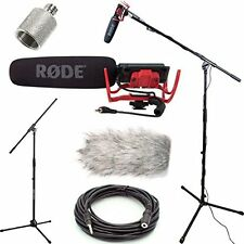 RODE VideoMic Studio Boom Kit with windmuff, Boom Stand, Adapter, 25' Cable