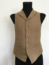 Nigel Cabourn Peak Lapel Vest 100% Linen Size 48 Made In England Very Rare