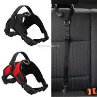 No Pull Breathable Adjustable Reflective Dog Vest Harness Set Nylon with Handle