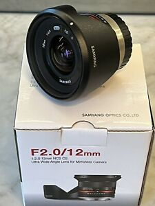 Samyang 12mm f/2.0 NCS CS Lens for Fujifilm X-Mount Black