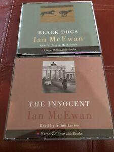 IAN McEWAN - THE INNOCENT & BLACK DOGS - 5CD & 3 CD AUDIOBOOKS - LIKE NEW