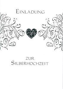 Einladungskarten Einladungen zur Silberhochzeit 5er
