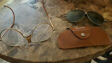 Rare Antique Vintage Wilson Steampunk Sport Goggles Glasses Aviator Motorcycle