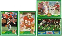 1989 Score Football JERRY RICE 4 Card Lot: Card #221, 292, 275, 279