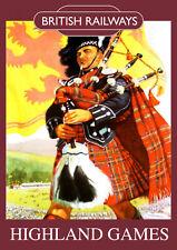 Highland Games Vintage British Railways Poster (repro) - Seaside / Landmark A4