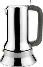 Alessi 3-Cup Espresso Coffee Maker in 18/10 Stainless Steel Mirror Polished UK