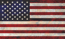 COOL GRUNGE EFFECT STARS & STRIPES, US FLAG  - vinyl wall,car,van decal sticker