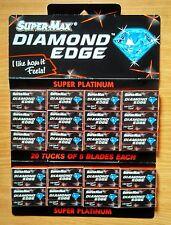 100 x  Super Max Diamond  Edge Razor Blades -SUPER PLATINUM Blades saloon SUPPLY