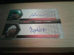 Tristar TNA Cross Line Dual Authentic Autograph Auto Card Hernandez & Homicide