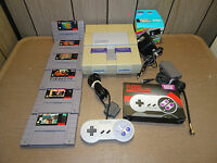 SNES Super Nintendo Console Game Bundle 6 games! Cleaned and Tested, Works Great