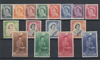 New Zealand QEII 1953 Definitive Set To 10/- SG723/736 MNH/MLH (9d VFU) JK1498
