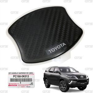 4Door Handle Inner Blow Black Cabon Fits Toyota Hilux Revo Fortuner 2015 2021
