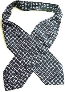 TED BAKER NECKWEAR PAISLEY SILK CRAVAT, Navy/Multi