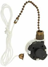 Westinghouse Dual-Capacitor 3-Speed Fan Switch, Antique Brass Pull Chain
