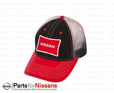 OFFICIALLY LICENSED NISSAN TRUCKER CAP HAT RED BLACK WHITE WITH LOGO