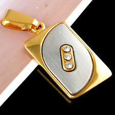New On Sale Gold Filled Unisex Pretty White Gemstones Pendant Deluxe Gift