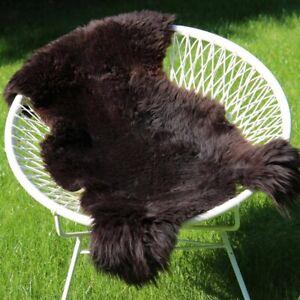 Lambskin Sheepskin Braun 2. Choice Real Merino Fur Runner Deco Seat Pad