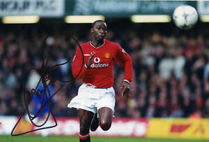 Manchester United Signed A4 Photograph - Andy Cole