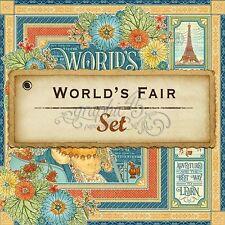 "GRAPHIC 45 ""WORLD'S FAIR"" 12X12 PAPER (8 PCS)  FAIRS CARNIVALS SCRAPJACK'S PLACE"