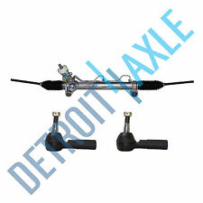 Power Steering Rack and Pinion +2 OUTER TIE RODS for Buick Pontiac