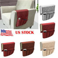 US Remote Control Caddy Arm Chair Holder Storage Organizer Armrest Couch Pocket