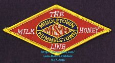 """LMH Patch MIDDLETOWN & HUMMELSTOWN Railway M&H The MILK HONEY LINE Railroad 4.2"""""""