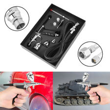 Airbrush Komplett-Set 2ml 5ml 13ml Airbrushpistole mit 0,3 0,5 0,8mm Düse Neu Z2