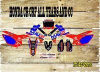 HONDA CR CRF 85 150 125 250 450 FULL GRAPHICS KIT-STICKER KIT-DECALS-MX-TV
