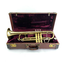 1954 Conn Pan American Trumpet With Case, Silver Mouth piece, And Music Holder