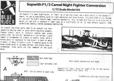 Blue Rider 1:72 Sopwith F1/3 Camel Night Fighter Conversion for Airfix Kit #F13