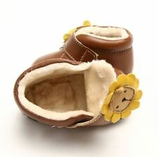 Unisex Baby Leather Boots with Hook & Loop Fasteners