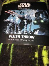 "Star Wars Rogue One Plush Throw 46"" X 60"" 117cm X 152cm New Black"